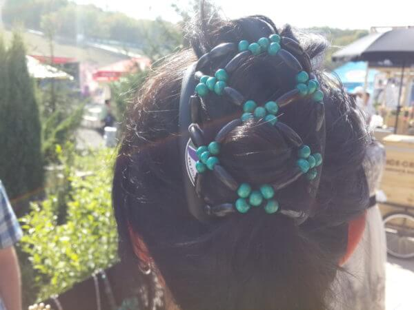 Гребень для волос African Butterfly Ndbele 003 на черном гребне