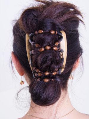 Украшения на волосы купить - African Butterfly Beada 007 беж