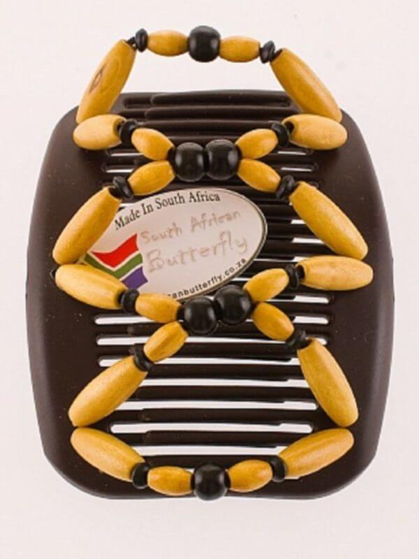Заколки для волос купить в интернет African Butterfly Beada 001 на коричневых гребнях