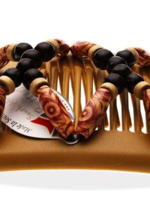 Купить заколки оптом - African Butterfly Beada 004 бежевая