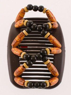 Заколки на волосы African Butterfly Beada 004 на коричневом гребне