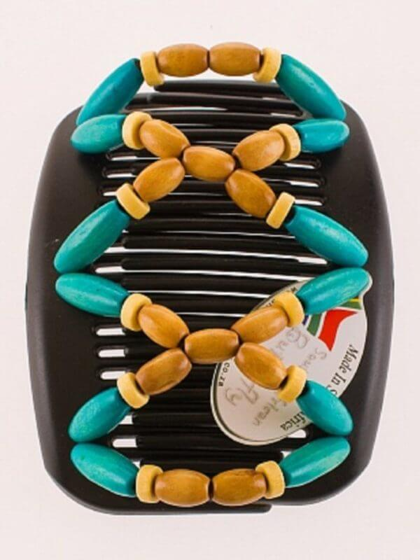 Стильные аксессуары для волос African Butterfly Beada 005 на черных гребнях