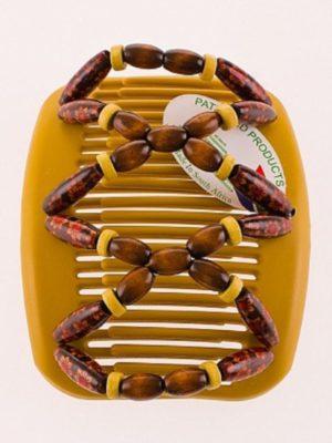 Красивые аксессуары для волос African Butterfly Beada 010 на бежевом гребне