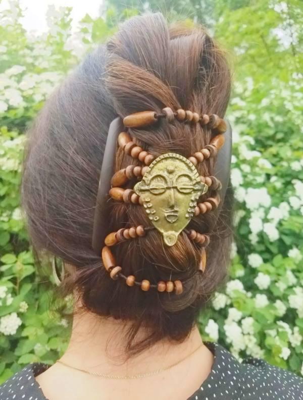 Элитные заколки для волос Африканская бабочка BronzeAge