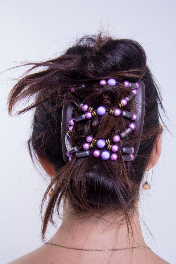 Украшения в волосы купить в интернет магазине - African Butterfly Dalena 001 на черном гребне