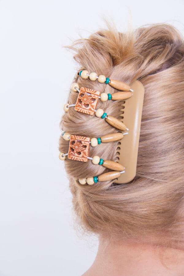 Аксессуары для волос киев купить - African Butterfly Dupla 006 бежевая