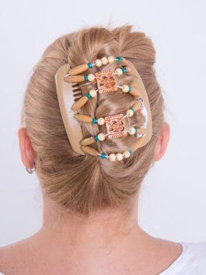 Аксессуары для волос киев купить - African Butterfly Dupla 006 бежевая008