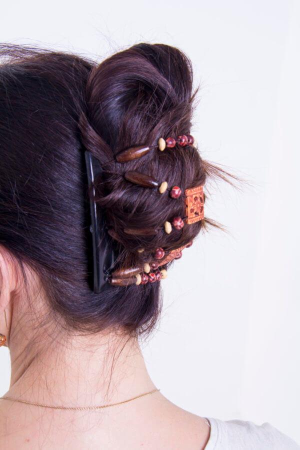 Модные украшения для волос купить - African Butterfly Dupla014черн_толст