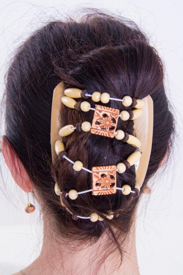Аксессуары для волос оптом от производителя - African Butterfly Dupla 001 бежевый