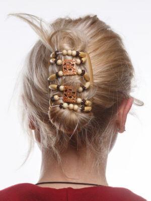 Заколки для волос брендовые African Butterfly Dupla 001 бежевый
