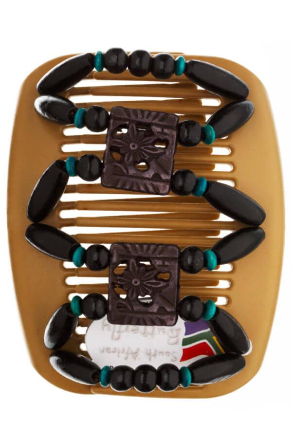 Аксессуары для причесок купить African Butterfly Dupla 002 на бежевом гребне