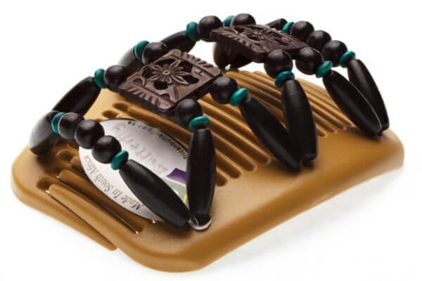 Аксессуары для причесок купить African Butterfly Dupla 002 на бежевом гребне для блондинок