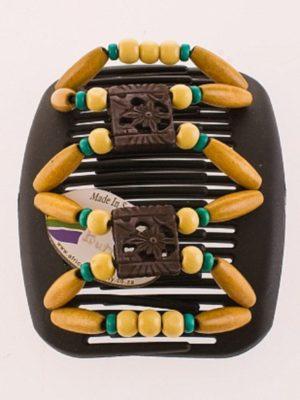 Красивые заколки African Butterfly Dupla 006 на черном гребне для брюнеток
