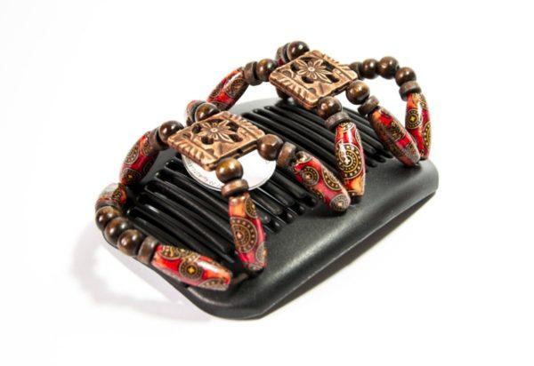 Модные аксессуары для волос купить в интернет магазине African Butterfly Dupla 007 на черных гребнях