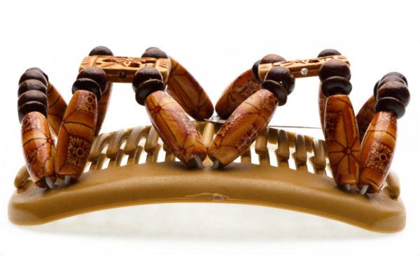 Украшение для волос купить African ButterflyDupla 008 на бежевом гребне для блондинок