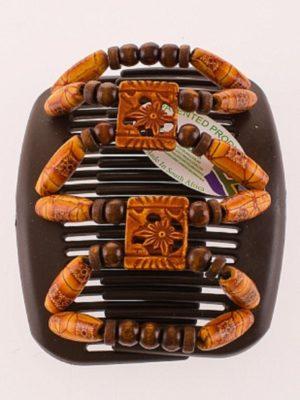 Заколки для волос купить в интернет магазине African Butterfly Dupla 008 на коричневом гребне