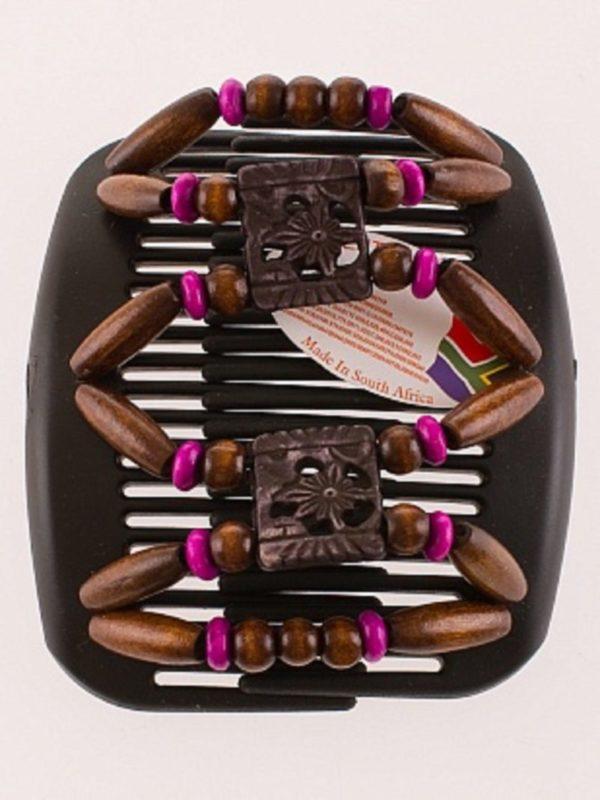 Украшения на волосы African Butterfly Dupla 009 на черном гребне для брюнеток