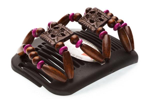 Заколки купить African Butterfly Dupla 009 для шатенок на коричневом гребне