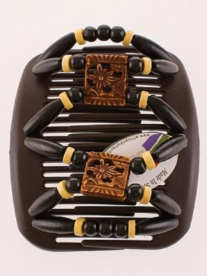 Украшения для волос купить African Butterfly Dupla 010 на коричневом гребне