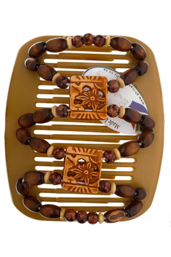 Заколки купить в интернет магазине African Butterfly Dupla 014 на бежевом гребне для блондинок