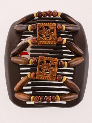 Красивые украшения для волос купить African Butterfly Dupla 014 на коричневом гребне