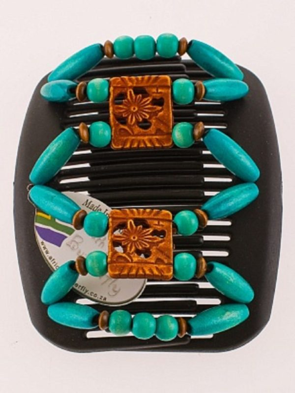 Стильные заколки для волос African Butterfly Dupla 015 черный гребень