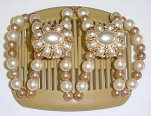 Дорогие заколки для волос Африканская бабочка Mother of pearl beige