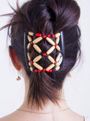 заколки для волос купить African Butterfly Ndbele 001 на черном гребне