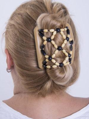 Купить красивую заколку для волос African Butterfly Ndbele 002 бежевая для блондинок