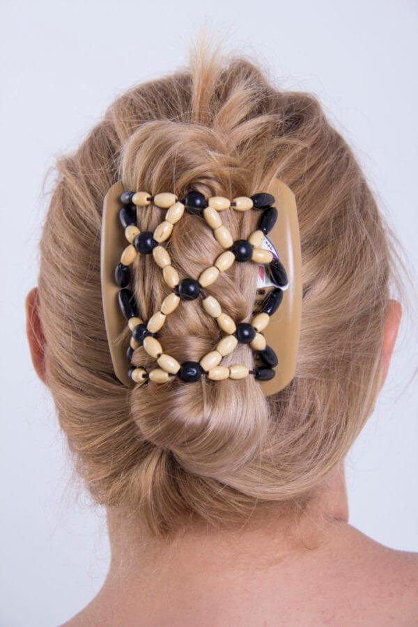 купить красивую заколку для волос African Butterfly Ndbele 002 бежевая