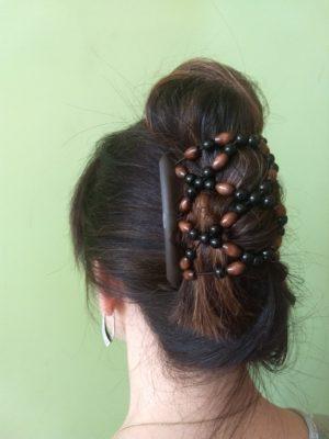 Аксессуар для волос African Butterfly Ndebele 004 на черном гребне