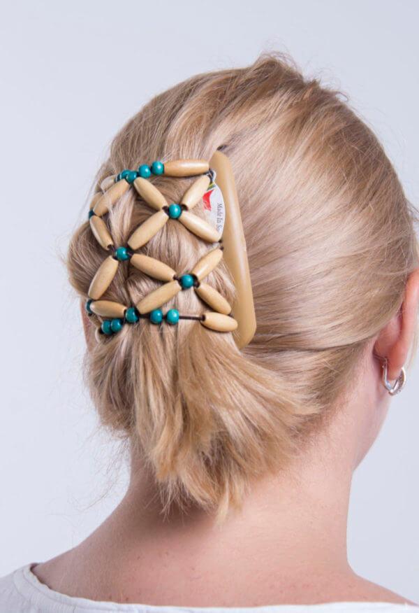 Купить заколки для длинных волос African Butterfly Ndbele 007 на бежевом гребне