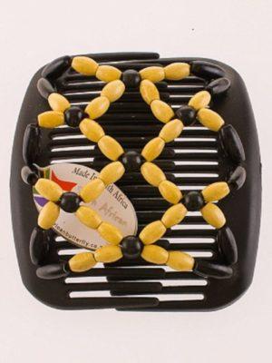 Купить заколки African Butterfly Ndebele 002 на черном тонком гребне