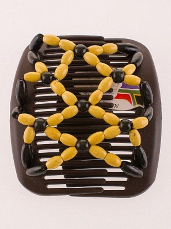 Аксессуары для волос магазин African Butterfly Ndbele 002 на коричневом гребне.