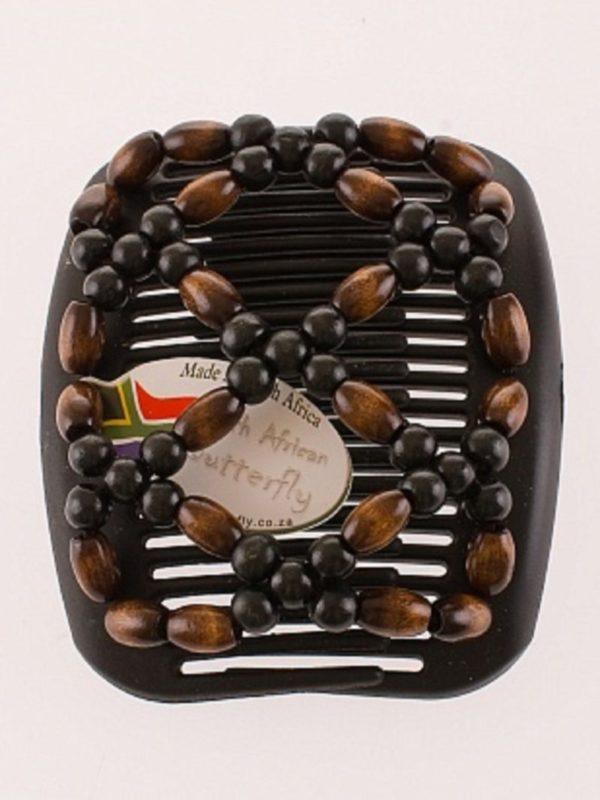 Аксессуар для волос African Butterfly Ndebele 004на черном гребне