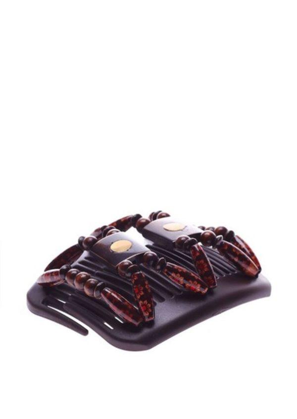 Заколки для длинных волос интернет-магазин African Butterfly Stones&Bones001 на черном гребне.