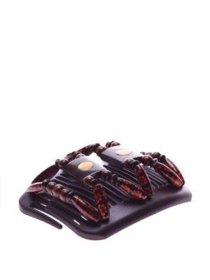 Украшения в волосы African Butterfly Stones&Bones 001 на коричневом гребне.