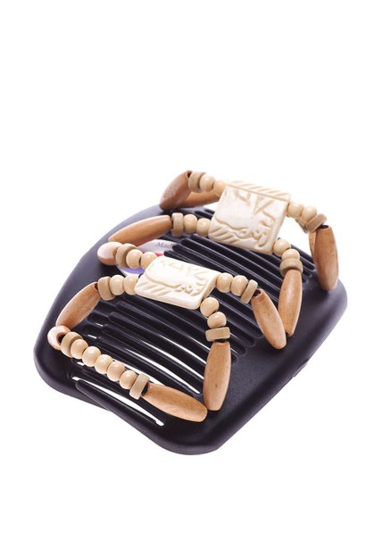 Заколки украшения для головы African Butterfly Stones&Bones002на черном гребне.