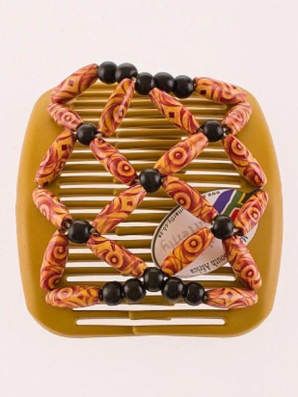 Купить заколки для волос African Butterfly Ndbele 006 на бежевом гребне