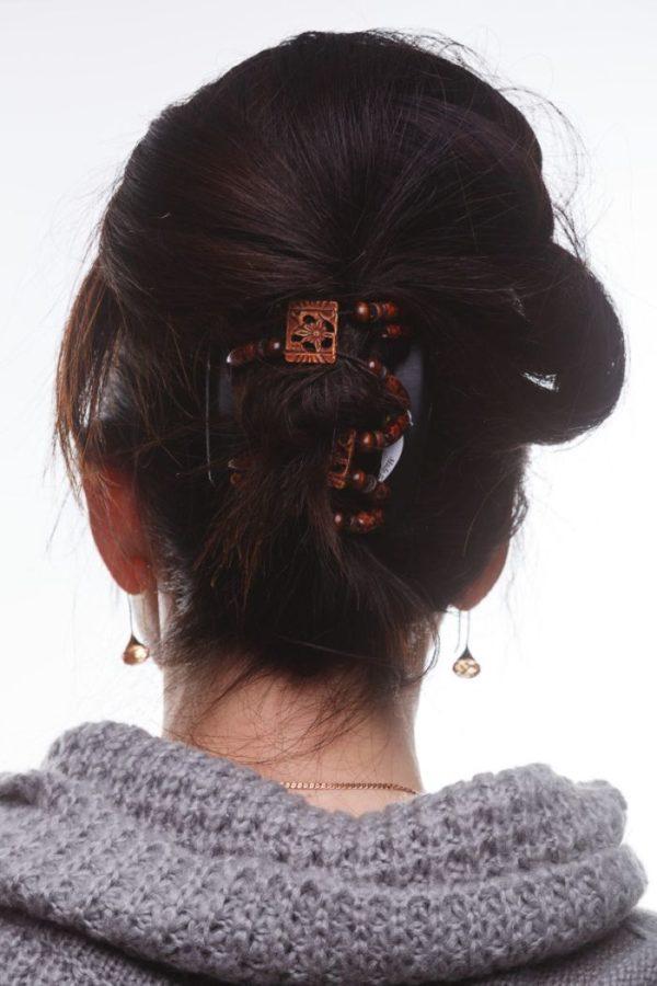 Аксессуары для длинных волос African Butterfly Dupla 012 на черных гребнях