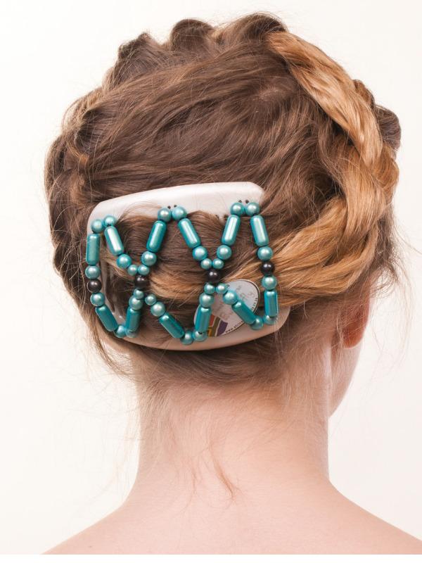 Магазин заколок для волос на двух гребня African Butterfly