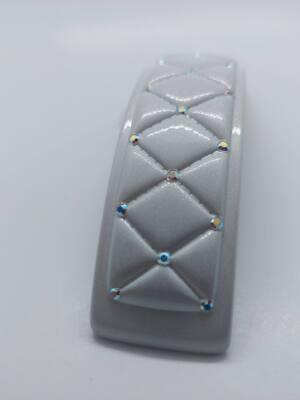 Заколка-автомат белая французская Barettes A056-whc-st20